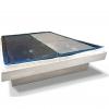 Eine Wasserbettmatratze passend für jede Seite von einem dualen Wasserbett