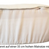 Wasserbettauflage Wasserbettbezug passend bis Höhe 35 cm