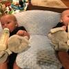 Zwillinge Stillkissen Baby